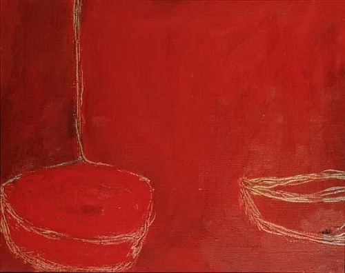 William Scott Red Still Life 1956