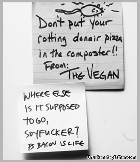 Message from The Vegan