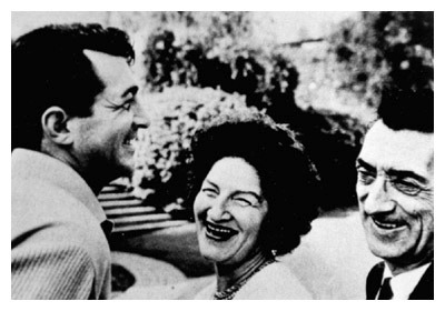 Dean Martin with his parents.