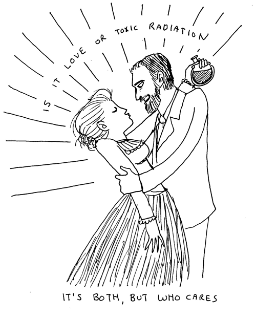 The Curies: hot historical science love, by Kate Beaton