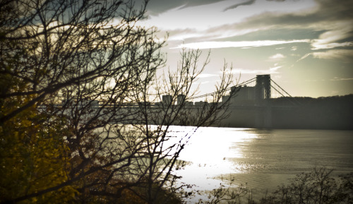 George Washington bridge, from Fort Tryon Park - 11/14