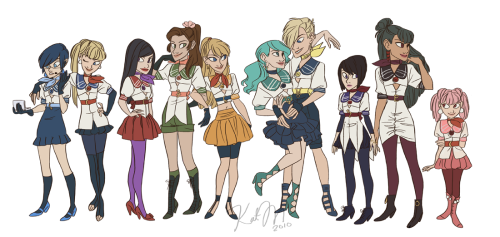 ubersuperduper:  Check out these fresh redesigns of the Sailor Scouts done by Kathryn Marusik. I love the way she's worked in each characters sensibilities into their outfit while still staying true to the iconic Sailor outfit.  I loooooooooooooooooooooove this!