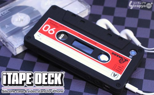 Retro Cassette Tape Case for iPhone 4 The iTape Deck is a silicone iPhone 4 protector case in the mold of a cassette tape. It even comes with a cassette case that doubles as a video stand. For approximately $18.80 at Strapya World, you can make your iPhone 4 look like a cassette tape. [Tokyo Mango]