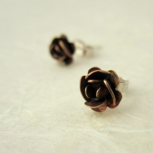 new rose stud design, petite and pretty :)
