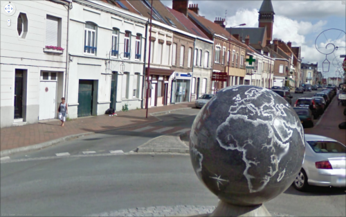 Globe, via buchr, one of a few recently-popular Street View screencap Tumblr blogs.