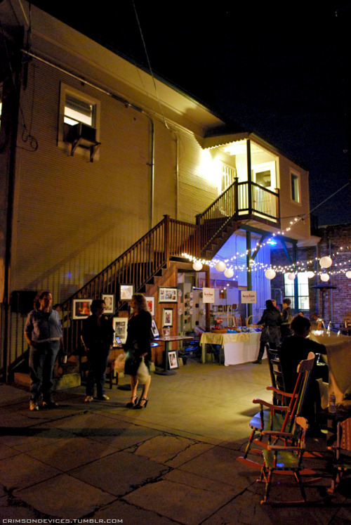 A small alley in the Art Walk on 2nd Saturday. Sacramento, CA
