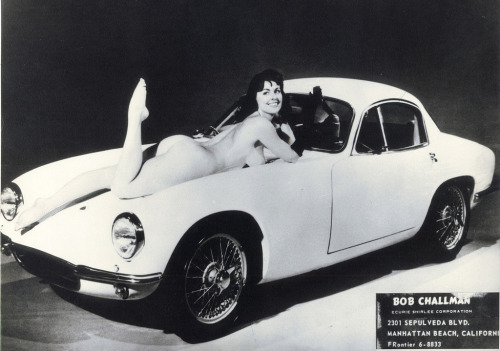 goodoldvalves:  Diane Webber and the Lotus Elite (via motormodels)