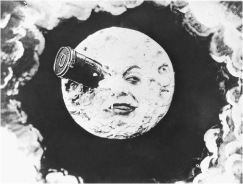 - Still from 'Le Voyage dans la Lune'(1902)Dir. by Georges Méliès (1861-1938)Based upon the novel by Jules Verne via film reference