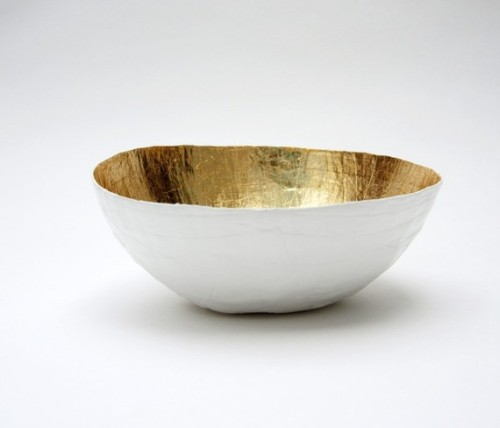 Love this. White gold paper bowl by etco, handmade on Etsy.
