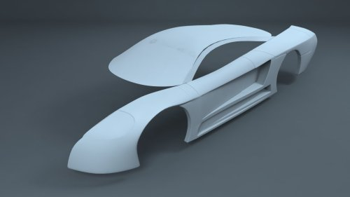 Just the beginnings of the car I am modelling. More to come