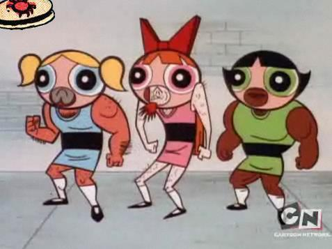 The Powerpuff Girls after their stay in prison. INTENSE.