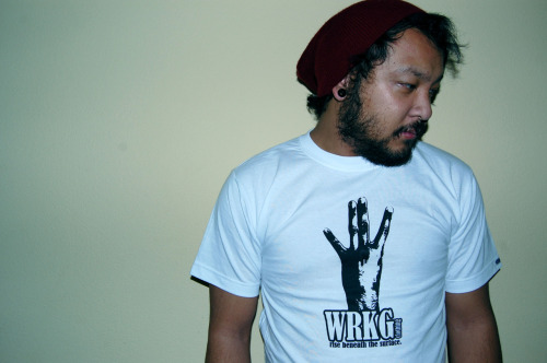 "WRKG clothing ""WRECK-SIDE"" sample shirts available! although there's only 2 in store, Sizes: MEDIUM & X-LARGE! go check out the shirt + other vintage finds for good prices! http://threadsociety.com/products/336-WRKG-Wreck-Side-T-shirt"