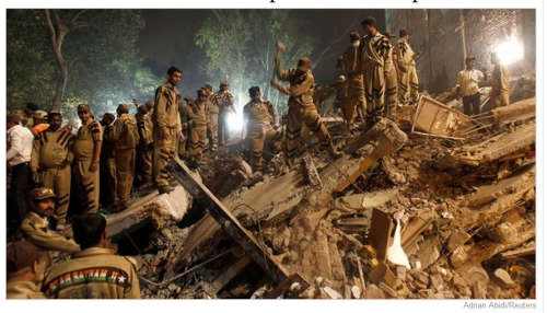 "Family members of the victims in Delhi said it looked like the #building was ""made of sand"" as it #collapsed in front of their eyes.  http://bit.ly/cu3zhj"