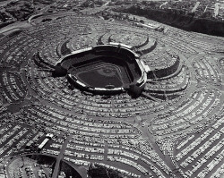 Dodgers Stadium, LA. 1962. Via: icancauseaconstellation
