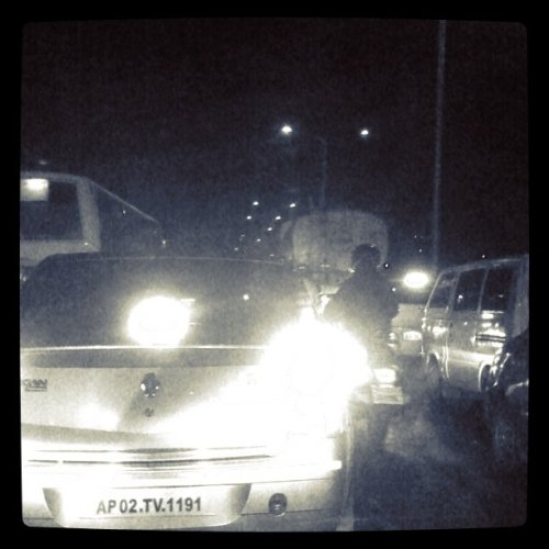 Jam at 08pm…we never ever miss traffic at Bangalore. (Taken with instagram at Cisco Systems India Private Limited)