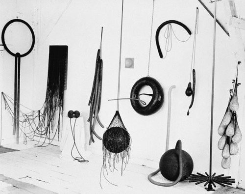 Eva Hesse's Studio. Looks like a drawing! via dailyserving.com