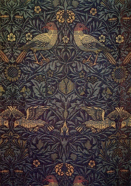 margueritemoulin:  The Textile Blog: William Morris 'Bird' Textile Design