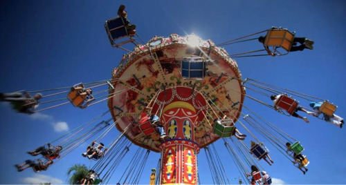 I had a super creepy dream the other night about a fair ride just like this one, hitting my sister in the head and knocking her unconscious. I've been feeling so strange and creeped out lately too…like something is coming…