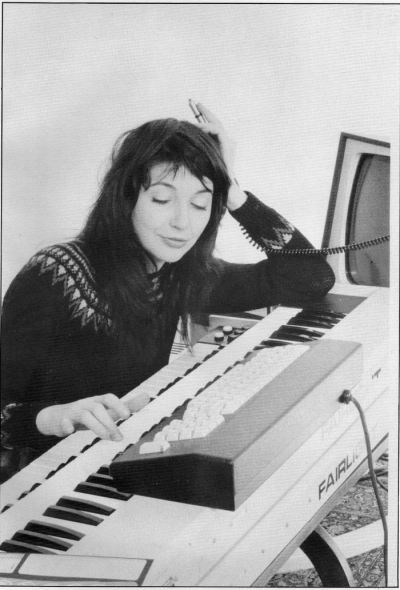 yeatsofhell:  Kate Bush  she's loving that Fairlight so much.
