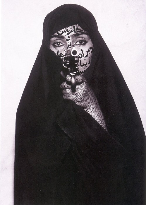Shirin Neshat doesn't always wear a chador. But as soon as she puts it on, naturally, she feels a sudden sense of confinement and oppression.