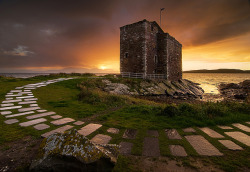 Portencross Castle, Ayrshire, Scotland by Peter Ribbeck