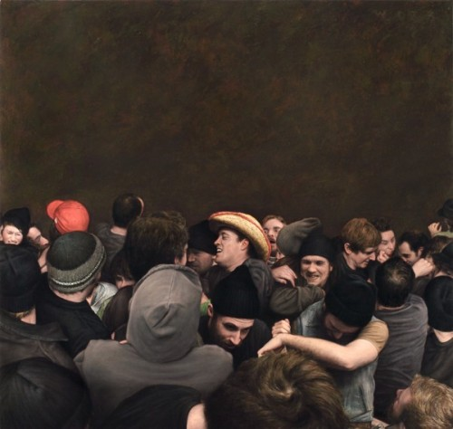 Realistic Mosh Pit Paintings by Dan Witz
