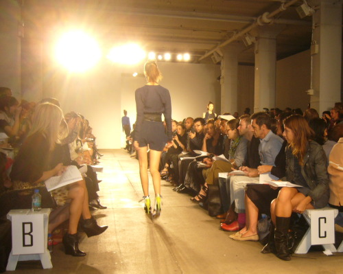 Ohne Titel Spring/Summer 2011 show at Milk Studios.