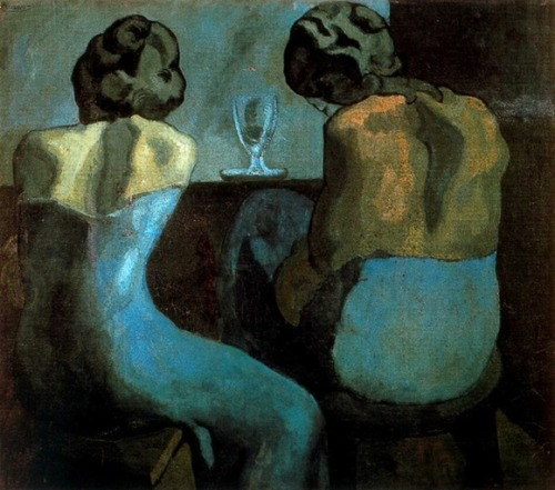 Pablo Picasso. Prostitutes in a Bar, 1902 (via nyahsu5656) see more Picasso's Blue Period & Red Period