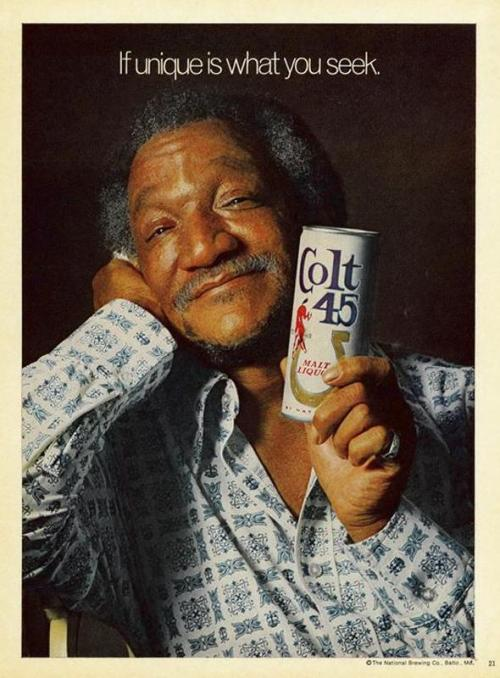 Red Foxx-If unique is what you seek… thedustybin:  Red Fox - Colt 45 - 1974