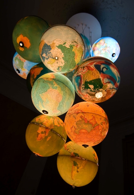 i am dying for this globe chandelier.