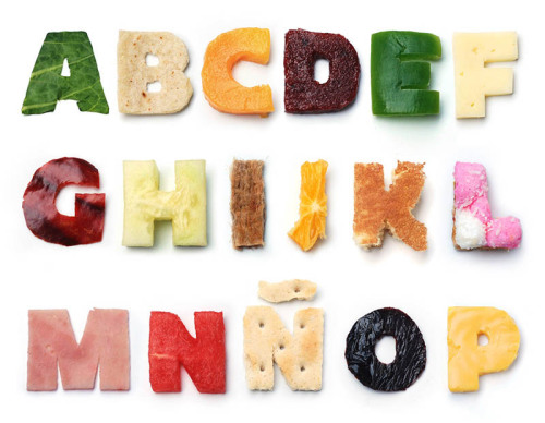 Creative Food Typography