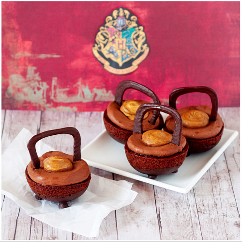 amazing Double Double Chocolate Cauldron Cakes by Sugarbear!