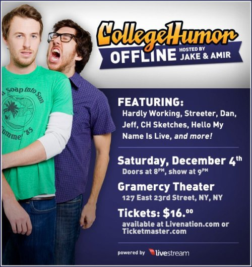 We're hosting CollegeHumor Offline!