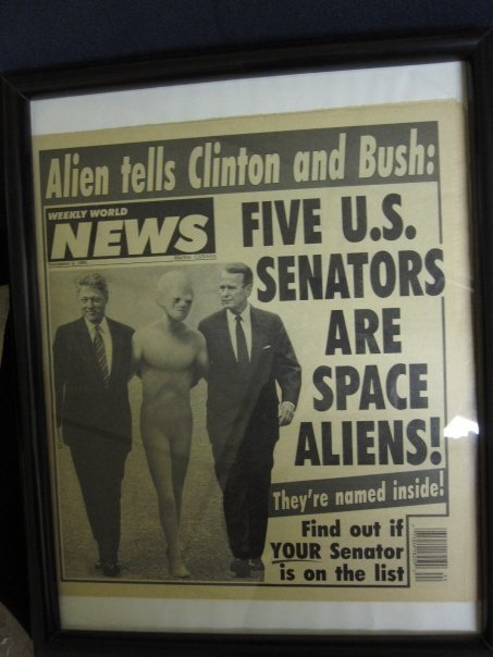 Weekly World News Framed