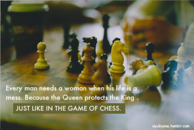ayuliyana:  Just like in the game of chess.