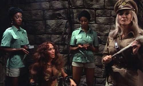 Dyanne with Haji, Marilyn Joi and Tanya Boyd in Ilsa: Harem Keeper of the Oil Sheiks.