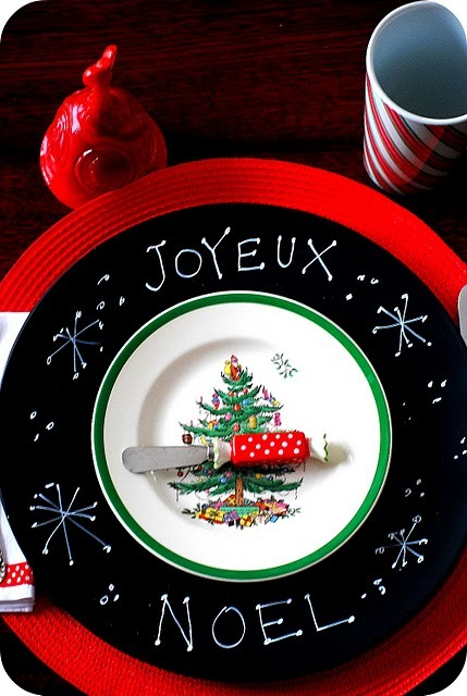 Tatertots and Jello: Holiday Entertaining — Make Chalkboard Chargers