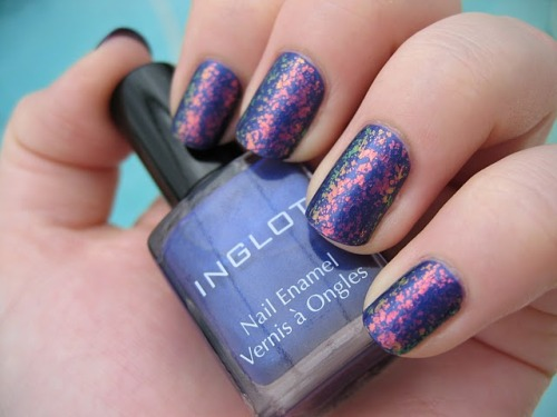 Inglot purple creme and a Hidden Treasure lookalike. Via