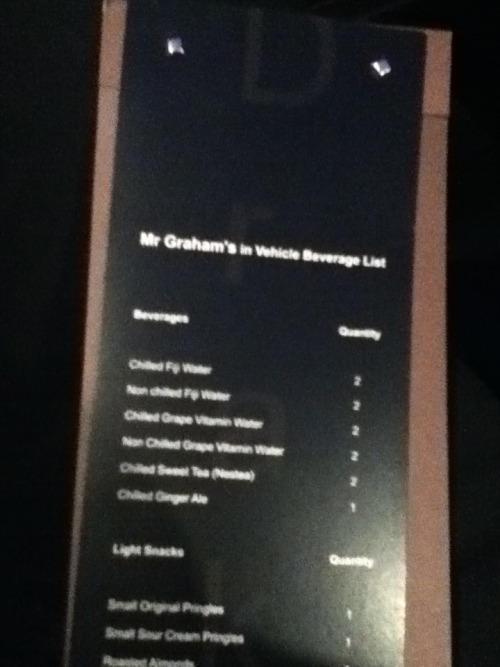 "Yes, Drake's Maybach Has A Drink Menu  ""When Jay-Z flew to Toronto for the OVO Festival, I sent the 'Bach to go pick him up. So when I see him he's like, 'Yo, you made me look bad.' I was nervous as shit, I thought I'd done something wrong. Then he was like, 'Nah. The car's got drink menus in it'.""   —GQ Man of the Year (and cover subject) Drake—full name: Aubrey Drake Graham—while riding with our music editor Will Welch in the back of his black Maybach, which he affectionately refers to as ""Johann Sebastian."" (Apparently Hov's Maybach driver hadn't thought of an ""In Vehicle Beverage List."")"