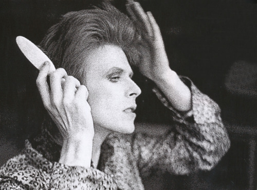 Byron Newman - [David Bowie, backstage, unknown South London venue, late 1972]  from Any Day Now: David Bowie The London Years (1947-1974)