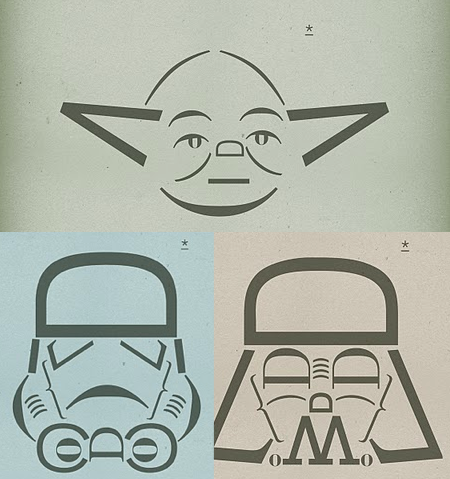szymon:  May the force of Typography be with you - from H-57