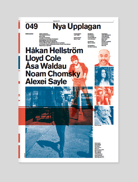 Some beautiful art direction on Swedish mag Nya Upplagan. One could see more at Swiss Legacy if one was apt.