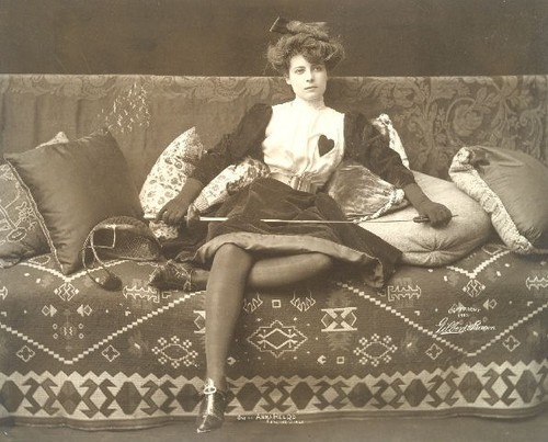 vintagegal:  retrogasm:  Fencing Babe…  One of Anne Held's fencing girls