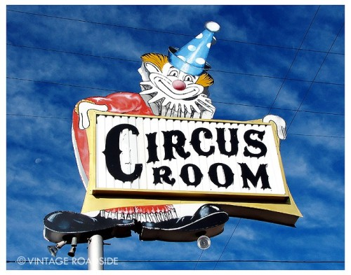 """Clown Shoes"" The Circus Room. Route 66 - Amarillo, Texas. Now available for licensing and as a fine art Chromira print on Fuji Crystal Archive Paper. To order visit our website here. To license image please find our contact form here. All images © Vintage Roadside"