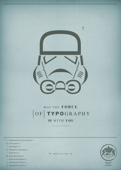 Awesome Star Wars Typography
