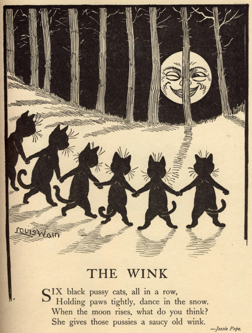 janeanger:  ilovesarahgay:  trixietreats:  Louis Wain illustration  saucy  Oh, Louis Wain. What a guy.