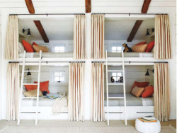 Full House - awesome space saving idea for cabin.