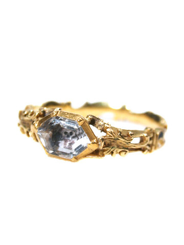 "Memento mori gold and crystal skull ring, c. 1761. The ring is inscribed ""W Harrison Ob 2 Sept 1761 AE 69."" Also it is for sale! For $5,450!"
