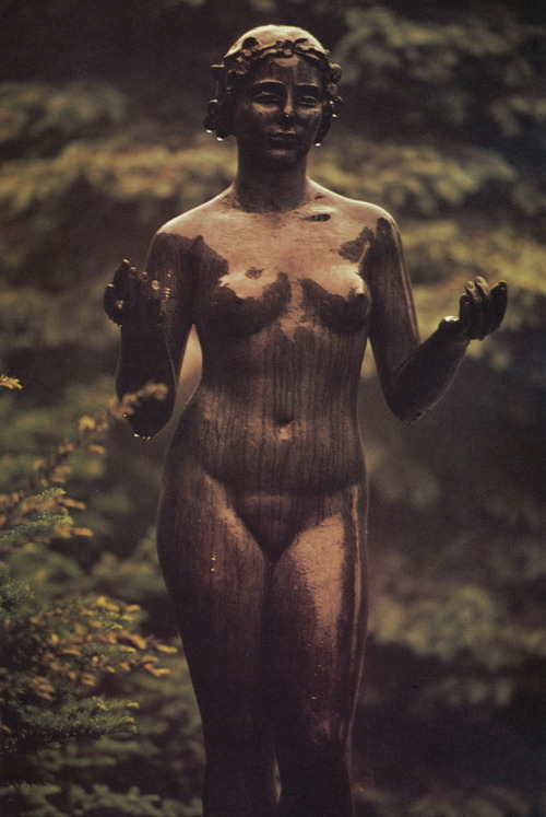 liquidnight:  Gjon Mili Maillol's Nymph Hirshhorn Sculpture Garden, Washington, DC, 1973 From Gjon Mili: Photographs and Recollections