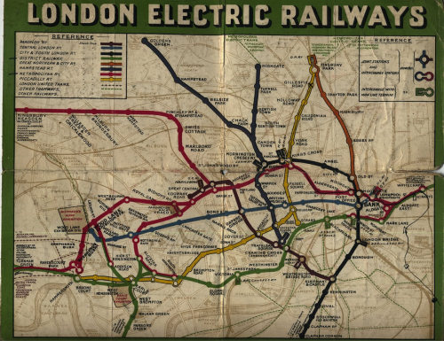 edwardianpromenade:  Routes for the London Underground in 1907 Hat tip to London Reconnections